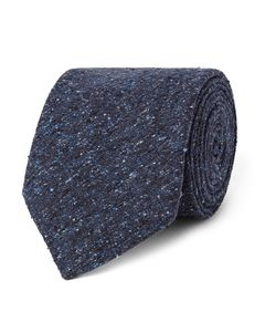 Marwood | Slub Silk Tie Blue