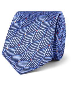 Sulka | Silk-Jacquard Tie Blue