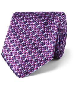 Sulka | Silk-Jacquard Tie Purple