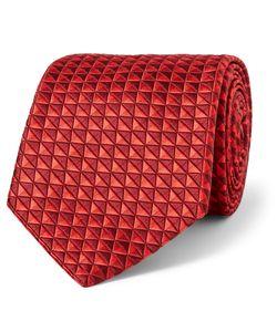 Sulka | Silk-Jacquard Tie Red