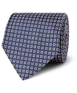 Drake's | Silk-Jacquard Tie Blue