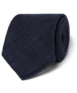 Drake's | Slub Silk Tie Blue