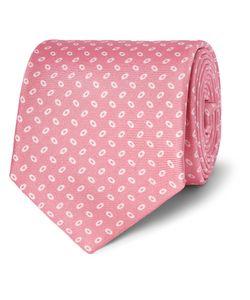 Emma Willis | Printed Silk-Twill Tie Pink