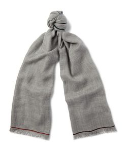 Loro Piana | Four In Hand Cashmere Scarf Gray