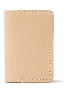 Tarnsjo Garveri   Icon Leather Bifold Cardholder Neutrals