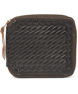 RRL | Embossed Leather Zip-Around Wallet Black