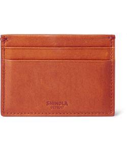 SHINOLA | Leather Cardholder Orange