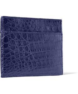 Santiago Gonzalez | Crocodile Cardholder Blue