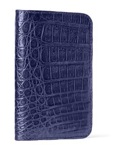 Santiago Gonzalez | Crocodile Bifold Wallet Blue