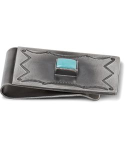 Peyote Bird | Al Somers Engraved Sterling Silver Turquoise Money Clip Silver