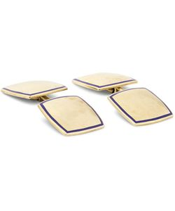 Foundwell Vintage | 1930s Carrington Co. 14-Karat Gold And Enamel Cufflinks Gold
