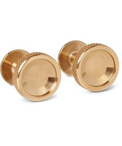 Alice Made This | Matthew Brass Cufflinks Gold