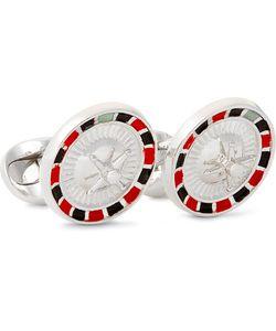 Deakin & Francis | Roulette Wheel Enamelled Sterling Silver Cufflinks Silver