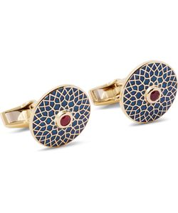 Deakin & Francis | Enamelled 18-Karat Gold Ruby Cufflinks Gold