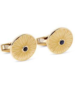 Deakin & Francis | 18-Karat Gold Sapphire Cufflinks Gold