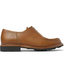 Heschung | Thuya Leather Derby Shoes Brown