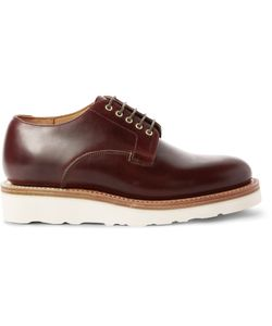 Viberg | Leather Derby Shoes Brown