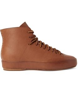 Feit | Leather High-Top Sneakers Brown