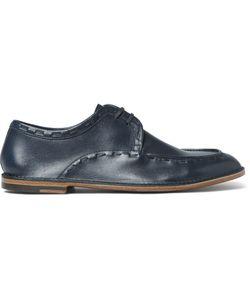 ARMANDO CABRAL | Leonard Stitch-Detailed Leather Derby Shoes Blue