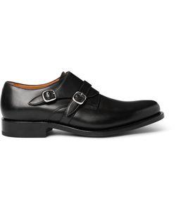 O'Keeffe | Bristol Leather Monk-Strap Shoes Black