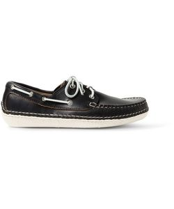 Quoddy | Moc Ii Leather Boat Shoes Black