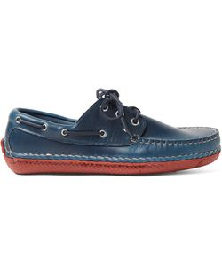 Quoddy | Moc Ii Leather Boat Shoes Blue