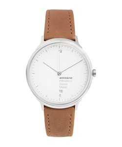 Mondaine | Helvetica No1 Light Stainless Steel And Leather Watch Brown