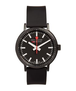 Mondaine | Stop2go Brushed-Steel Watch Black