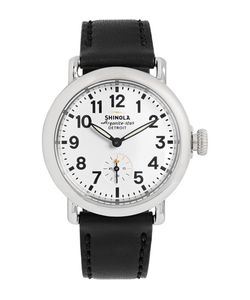 SHINOLA | The Runwell 36mm Stainless Steel And Leather Watch Black