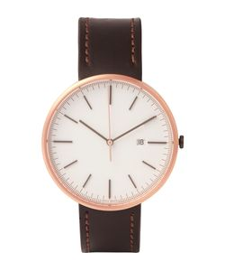 Uniform Wares | M40 Rose Gold Pvd-Plated Stainless Steel And Leather Wristwatch Brown