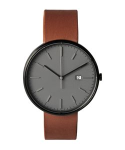 Uniform Wares | M40 Pvd-Plated Stainless Steel And Leather Wristwatch Gray