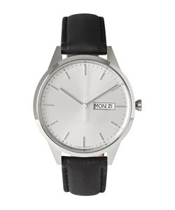 Uniform Wares | C40 Stainless Steel And Leather Wristwatch Black