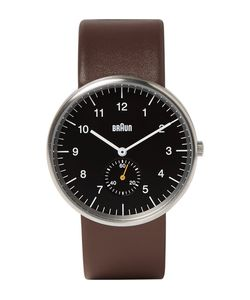 Braun | Bn0024 Leather And Stainless Steel Watch Brown