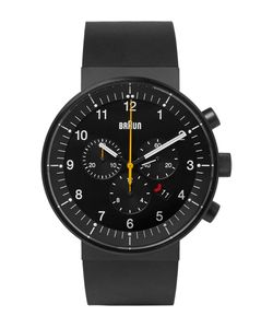 Braun | Bn0095 Rubber And Stainless Steel Watch Black