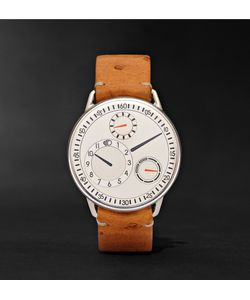Ressence | Type 1 W Titanium And Ostrich Watch Brown