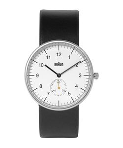 Braun | Bn0024 Stainless Steel And Leather Watch Black