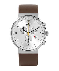Braun | Bn0035 Stainless Steel And Leather Watch Brown