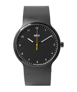 Braun | Bn0221 Rubber And Stainless Steel Watch Black