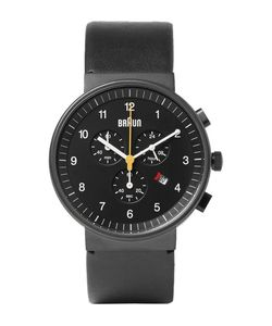 Braun | Bn0035 Stainless Steel And Leather Watch Black