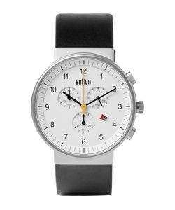 Braun | Bn0035 Classic Chronograph Stainless Steel And Leather Watch Black