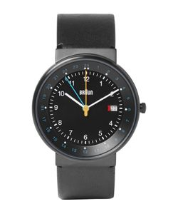 Braun | Bn0142 Classic Stainless Steel And Leather Watch Black