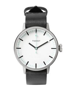 Tsovet | Svt-Sc38 38mm Stainless Steel And Leather Watch Black