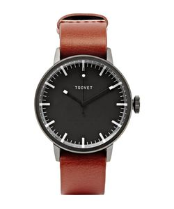 Tsovet | Svt-Sc38 38mm Stainless Steel And Leather Watch Brown
