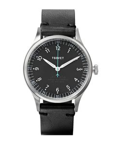 Tsovet | Jpt-Pw36 36mm Stainless Steel And Leather Watch Black