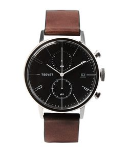 Tsovet | Jpt-Cc38 Stainless Steel And Leather Watch Brown