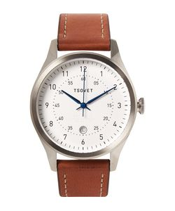Tsovet | Svt-Rm40 Stainless Steel And Leather Watch Brown
