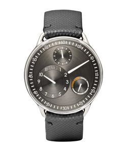 Ressence | Type 1 R Titanium And Leather Watch Black