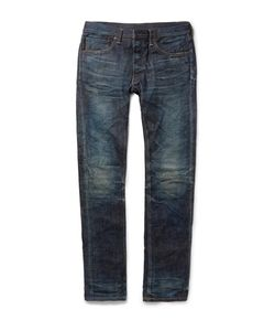 Fabric-Brand & Co | Doran Slim-Fit Japanese Selvedge Denim Jeans Blue