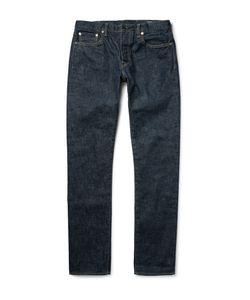 The Workers Club | Slim-Fit Rinsed Selvedge Denim Jeans Blue