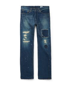 Orslow | Beams Standard 105 Straight-Leg Distressed Denim Jeans Blue